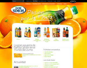 Pantallazo Web Don Simon