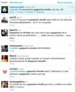 Comentarios sobre Alvalle en Twitter