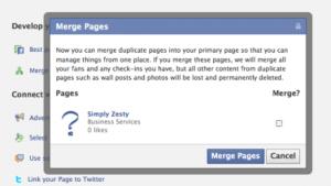 Fusion de paginas en Facebook