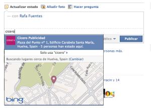 Pantallazo Fan Page Facebook