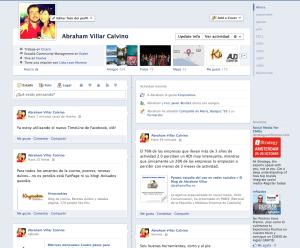 Pantallazo Timeline Facebook