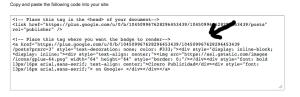 Codigo generado Widget Google+ Page
