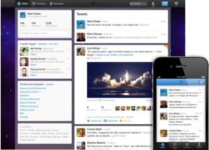 Nuevo diseño inicio en Twitter