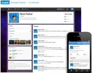 Nuevo diseño twitter cuenta