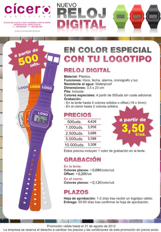 Oferta Reloj Cicero Huelva