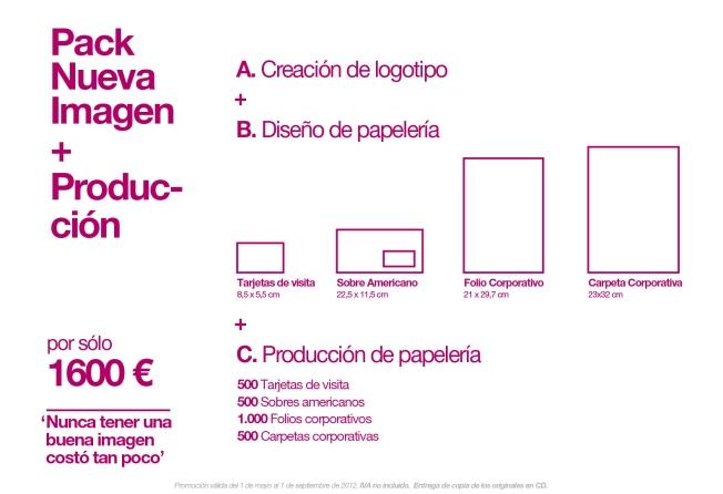 Packs Nueva Imagen Promoción Diseño Huelva