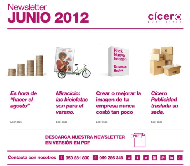 Cicero Publicidad Newsletter